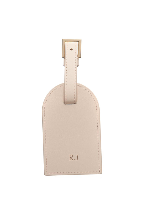 Personalised Monogrammed Leather Luggage Tag