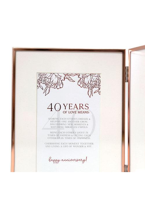 Splosh Anniversary 40 Photo Frame