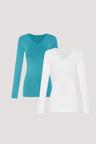 Bella Bodies Pure Comfort Long Sleve V Neck Modal Top 2 Pack