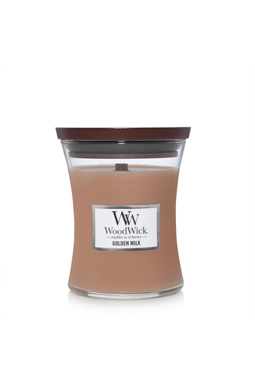 Woodwick Golden Milk Candle