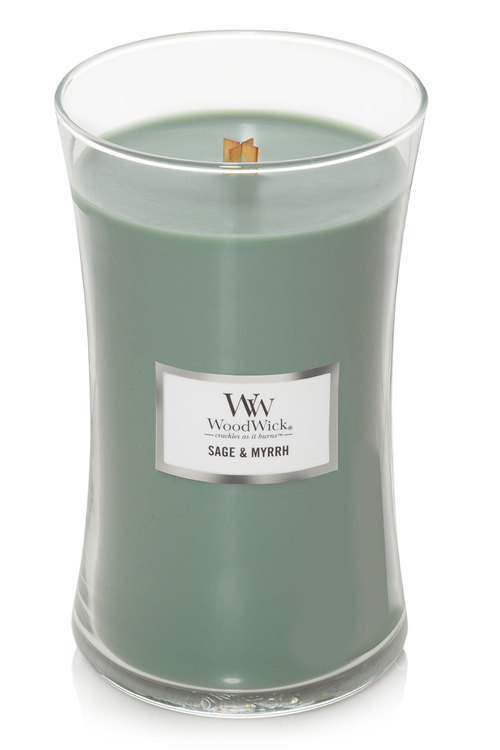 Woodwick Sage & Myrrh Candle