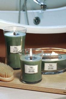 Woodwick Sage & Myrrh Candle - 292236