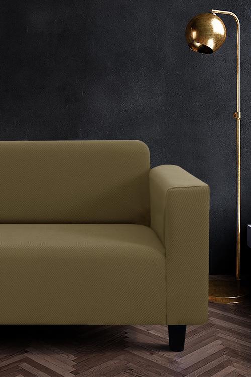 Sherwood Home Jacquard Easy Stretch 2 Seater Sofa Cover