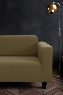 Sherwood Home Jacquard Easy Stretch 2 Seater Sofa Cover - 292257
