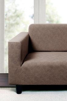 Sherwood Home Polygon Jacquard Easy Stretch 2 Seater Sofa Cover - 292260