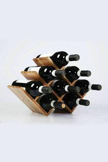 Sherwood Home Natural Acacia Wood 8 Bottle Tabletop Wine Rack - 292271