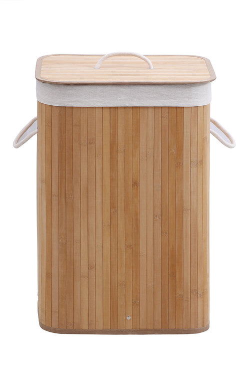 Sherwood Home Rectangular Collapsible Bamboo Laundry Hamper With
