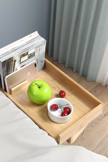 Sherwood Home Bamboo Bed Side Shelf Table With Adustable Clamp - 292278
