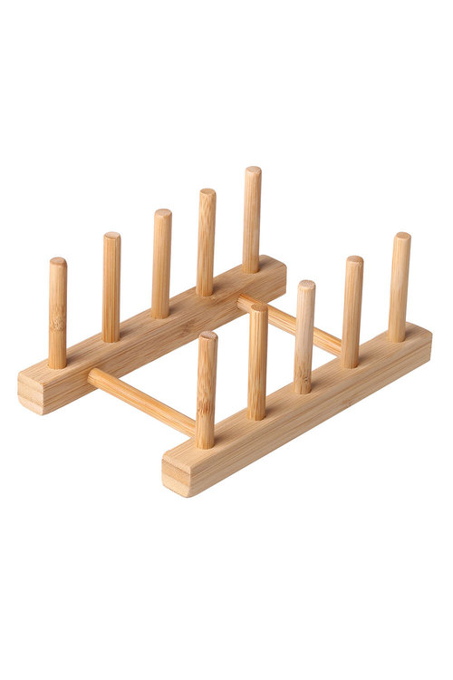 Sherwood Home 2 Pack Bamboo Standing Plate Rack