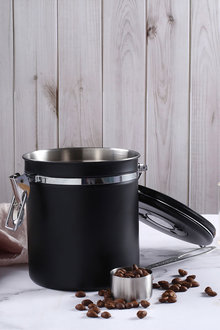 Sherwood Home Filter Brew Coffee Bean/Grounds Air Tight Storage Canister - 292295