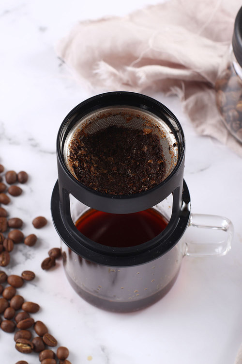 Sherwood Home Brew Glass Coffee Cup and Metal Filter Paper