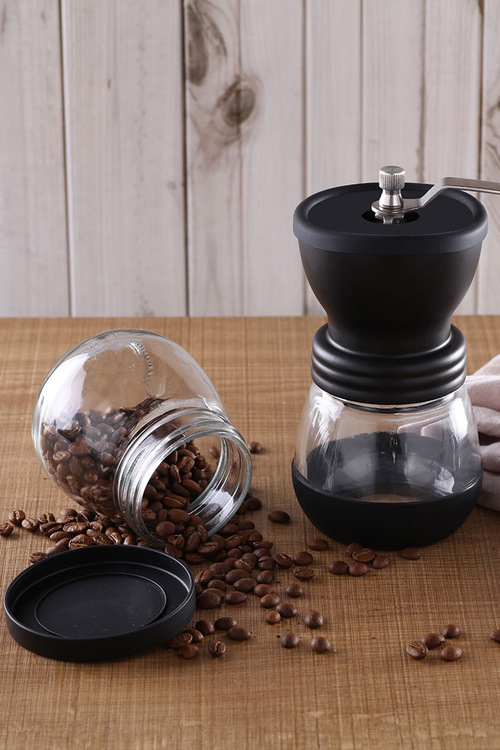 Sherwood Home Filter Brew Manual Coffee Grinder With 2 Storage