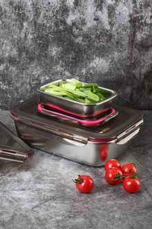 Sherwood Home Stainless Steels Food Storage Container With Air Tights - 292300
