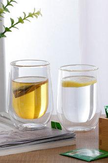 Sherwood Home Double Wall Coffee Glass Set of 2 - 292301