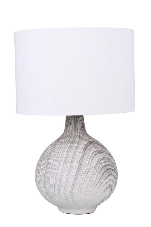Sherwood Lighting Textured Concrete Bedside Table Lamp