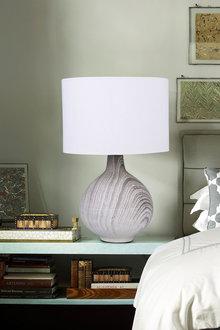 Sherwood Lighting Textured Concrete Bedside Table Lamp - 292306