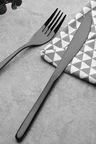 Sherwood Home Premium Black Titanium Steel 24 Piece Cutlery Set