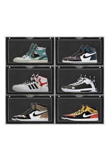 Sherwood Home Kicks Side Display Stackable Shoe Storage Box - 292309