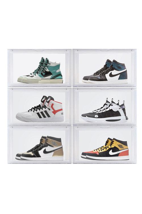 Sherwood Home Kicks Side Display Stackable Shoe Storage Box