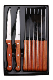Sherwood Home 8 Piece Steak Knife Set With Rosewood Handles - 292314