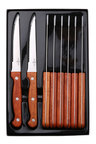 Sherwood Home 8 Piece Steak Knife Set With Rosewood Handles