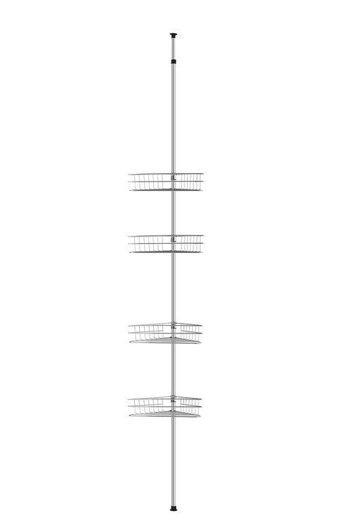 Sherwood Home Adjustable Telescopic 4 Tier Corner Shower Caddy Rack