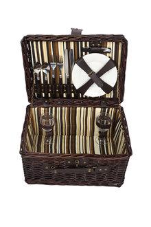 Sherwood Home Newbury Wicker Picnic Basket 2 People - 292319