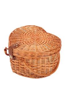 Sherwood Home Adelaide Heat-Shaped Wicker Picnic Basket 4 People - 292320
