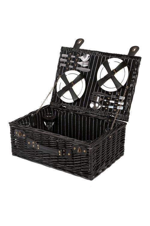 Sherwood Home Newbury Wicker Picnic Basket 4 People