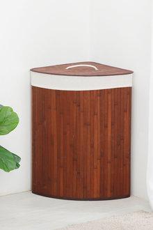Sherwood Home Corner Folding Bamboo Laundry Hamper - 292329