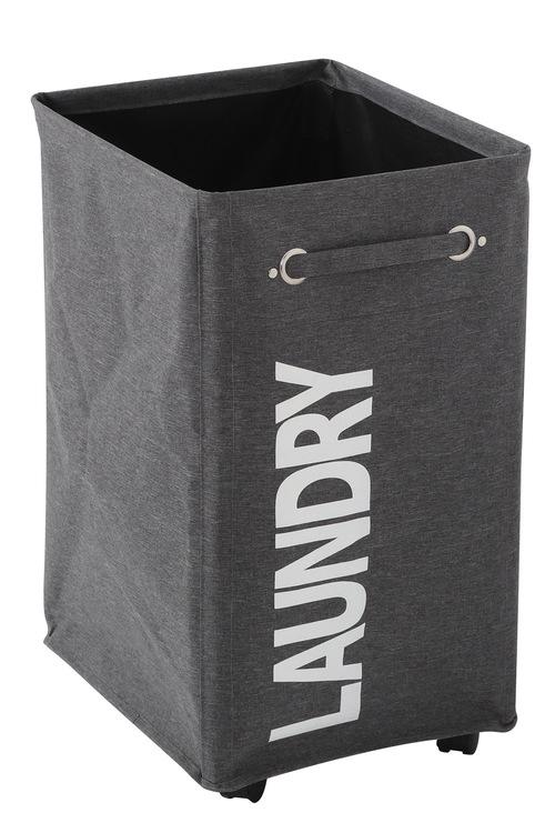 Sherwood Home Foldable Oxford 5 Wheel Fabric Laundry Bag