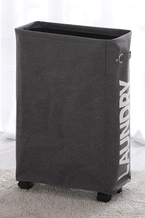 Sherwood Home Foldable Oxford Fabric 4 Wheel Thin Laundry Bag