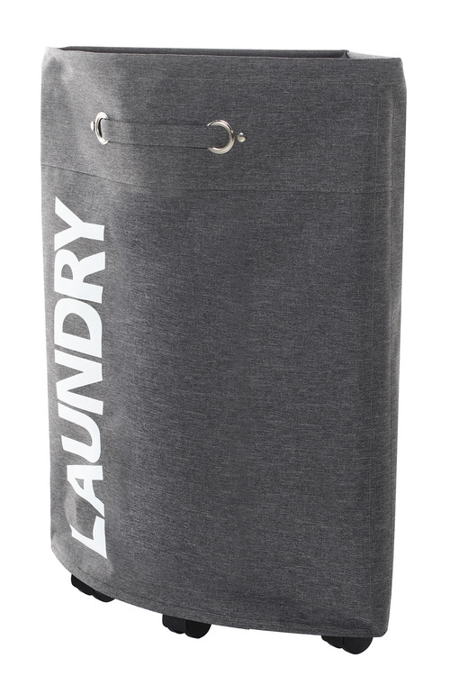 Sherwood Home Foldable Oxford Fabric 4 Wheel Corner Laundry Bag