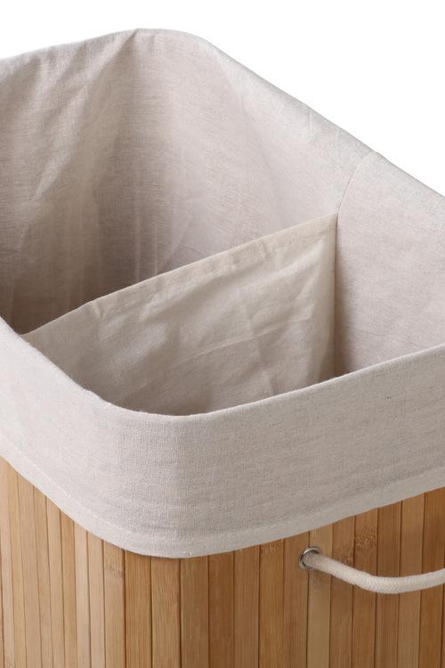 Sherwood Home 2 Sided Extra Large Rectangular Foldable Bamboo Laundry