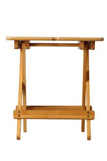 Sherwood Home Foldable Bamboo Picnic 2 Wine Glass Table - 292355