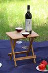 Sherwood Home Foldable Bamboo Picnic 2 Wine Glass Table
