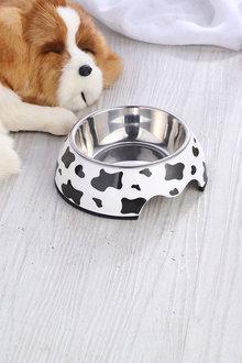 Charlies Pet Melamine Printed Pet Feeders with Stainless Steel Bowl - 292489