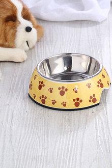 Charlies Pet Melamine Printed Pet Feeders with Stainless Steel Bowl - 292490