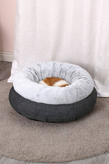 Charlies Pet Winter Short Plush Round Bed Non Slip Bottom - 292492