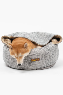 Charlies Pet Round Bed with Faux Fur Cover - 292495
