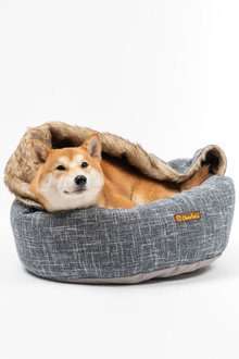 Charlies Pet Round Bed with Faux Fur Cover - 292496
