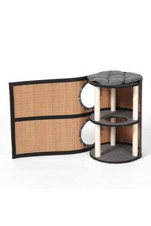 Charlies Pet Deluxe Bamboo Cat Barrel Scratcher - 292521