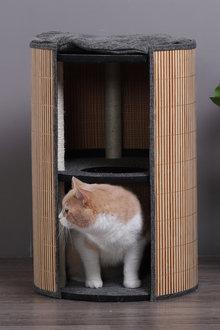 Charlies Pet Deluxe Bamboo Detachable Cat Barrel Scratcher - 292523