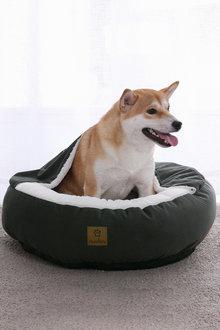 Charlies Pet Hooded Corduroy Snookie Pet Nest - 292548