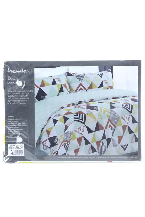Dreamaker Printed Quilt Cover Set Ethan
