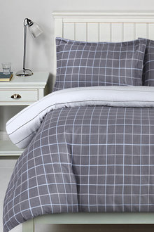 Dreamaker Printed Cotton Sateen Quilt Cover Set Williams - 292591