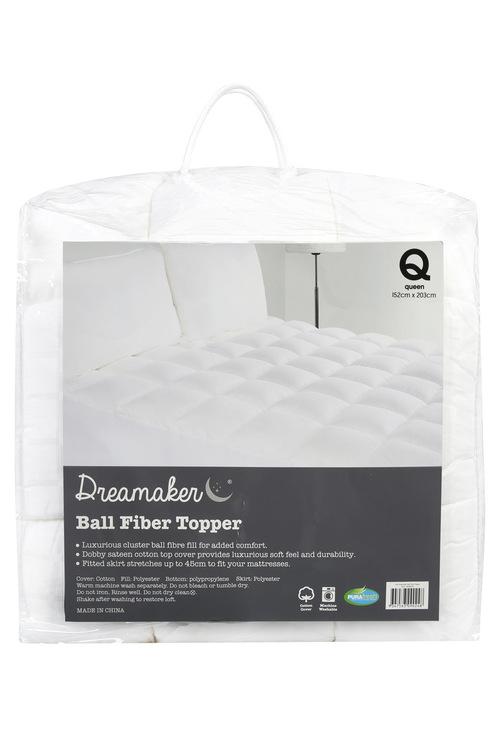 Dreamaker 600GSM Ball Fibre Mattress Topper