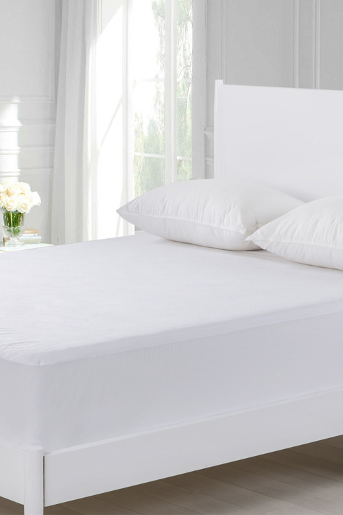 Dreamaker Cotton Terry Towelling Waterproof Mattress Protector