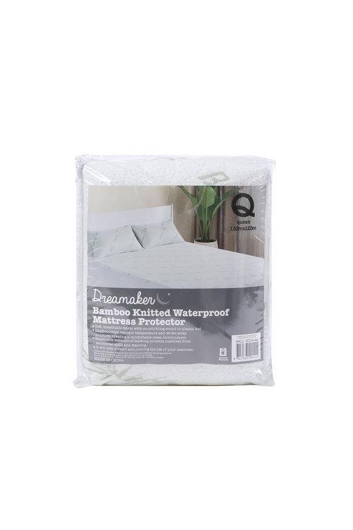 Dreamaker Bamboo Knitted Waterproof Mattress Protector