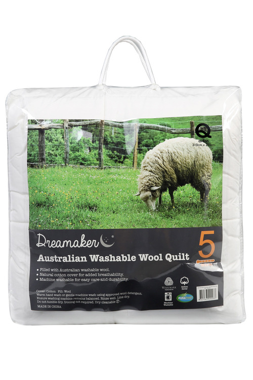 Dreamaker 500GSM Australian Washable Wool Quilt
